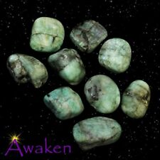 *ONE* EMERALD Natural Tumbled Stone Approx 15-20mm *TRUSTED SELLER*