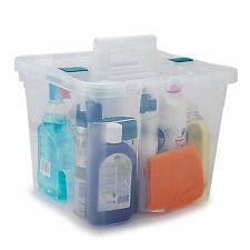 LARGE CLEANING BOX CHEAP STARTER OFFICE HOME CADDY KIT WITH LID BOX UK STOCK
