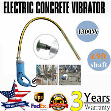 1.3Kw Electric High Speed Concrete Vibrator 4.9ft Poker Remove Air Bubble Level
