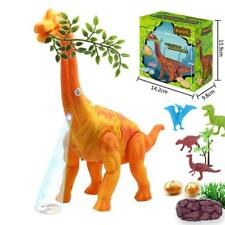 Egg Laying Jurassic World Walking Brachiosaurus Dinosaur T-Rex Toy Lights Box