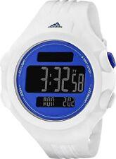 NIB ADIDAS QUESTRA WHITE SILICONE BLUE FACE DIGITAL SPORTS TIMER WATCH ADP3140