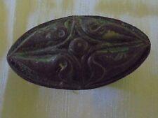 Ancienne poignée  de porte fonte ouvragé XIXème avec carré rond