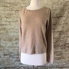 Everlane Womens Cotton Cashmere Camel Brown Crew Neck Sweater Size Medium
