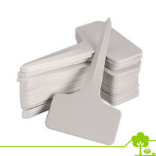 Garden - 100pcs Plastic Plant T-type Tags Markers Nursery Labels Gray - 6 x10cm