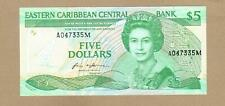 EAST CARIBBEAN STATES: 5 Dollars Banknote,(UNC),P-18m,1986,No Reserve!