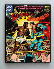 Framed Muhammad Ali vs Superman Comic Cover Restored Reprint