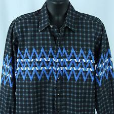Brooks & Dunn by Panhandle Slim Mens XL Snap Shirt Western Rockabilly Cowboy USA