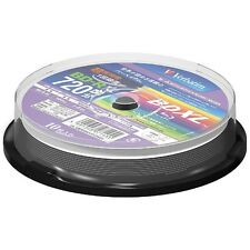 New! 10 Verbatim BDXL Bluray BD-R XL 100GB Inkjet Printable Sealed in Spindle