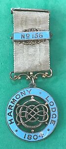 HARMONY LODGE No.156 - SILVER CENTENARY JEWEL DATED 1896 - masonic