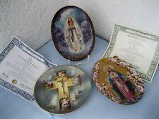 3x Sammelteller Madonna von Lourdes Bradex/Engelskönigin Franklin/Leben Jesu