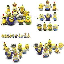 10pcs/pack 3D Crown Minions Miniature Figurines Toys Car model Anime Children Fi