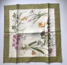 "JIM THOMPSON CUSHION COVER THAI SILK Orchid Flowers PRINTED SQUARE 18"""