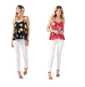 Mud Pie E8 Women's Fashion Summer Bel Air Peplum Top 8513160 Choose Size Color
