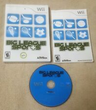BIG LEAGUE SPORTS Nintendo Wii Video Game 2008 Activision Complete VGC