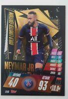 2020/21 Match Attax UEFA - Neymar Jr Gold Limited Edition LE4G Paris PSG