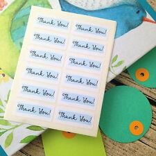 Thank you label, Blue thank you, Thank you sticker, Gift bag sticker, Thank you