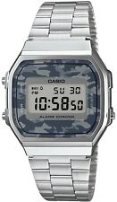 New Caso Silver Camo Digital Alarm Unisex Latest Watch A168WEC-1DF