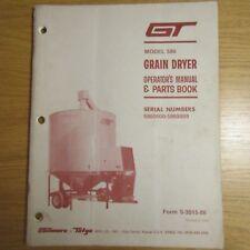 GILMORE & TATGE Model 580 GRAIN DRYER Operators User Parts Manual Book 1984