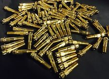 (100pcs)9mm Asanti Gold Bolts Fits Asanti/Lexani Wheels 12 Point(not 11 Point)