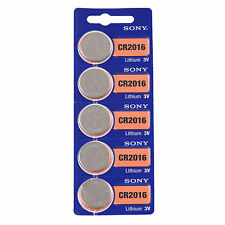 FRESHEST ON EBAY EXP 2025 5 SONY {{CR2016}} Lithium Battery 3V SEE CAUTION BELOW