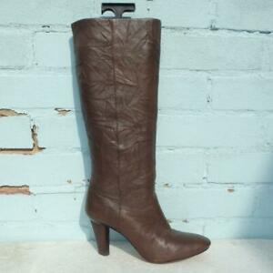 Paul Smith Leather Boots Size UK 6 Eur 39 Womens Shoes Pull on Brown Boots