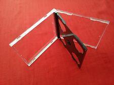 200 DOPPIO CD MAXI JEWEL CASE 10.4 mm Spina Standard per 2 CD CON VASSOIO NERO NUOVO