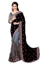 New Designer Embroidery Sari for Indian Ethnic Wedding Party wear Sari (K608)