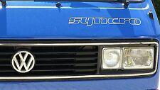 SYNCRO + 4WD VW T3 Aufkleber Weiß Schriftzug Bus Doka Pritschewagen