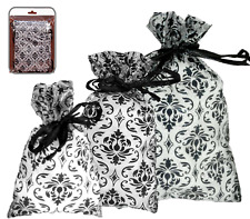 Jewelry Gift Pouches Drawstring Jewelry Bags Damask Organza ASSORTED (48) Bags