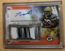 Ty Montgomery 2015 Topps Inception Rookie Jumbo Patch Auto 4/5