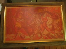 "Dean Meeker original print ""Masquerade""  Wisconsin Art"