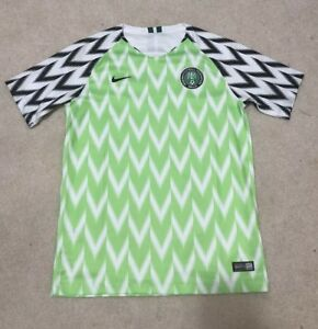 Nike Nigeria 2018 Home Green/White/Black Soccer Jersey Youth XL