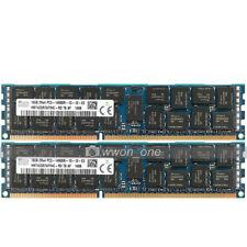 Hynix 32GB 2x16GB 2Rx4 PC3-14900R DDR3-1866Mhz 240Pin ECC REG Server Memory RAM