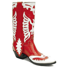 Rancho Loco Red & White Double Eagle Classic Cowboy Boots Men's Size 11D