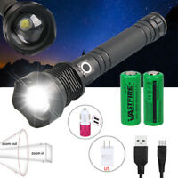 Ultra Bright 90000LM XHP70 LED Flashlight Rechargeable 3 Modes Zoom Torch 26650