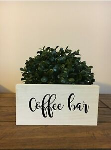 Coffee Bar Sign - Rustic Chic Bathroom Sign Handmade with Hanging Hardware