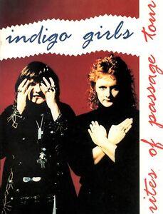 INDIGO GIRLS 1992 RITES OF PASSAGE TOUR CONCERT PROGRAM BOOK BOOKLET / NM 2 MINT