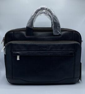 Hartmann Aviator Zipper Expandable Laptop Briefcase, Leather Computer Bag
