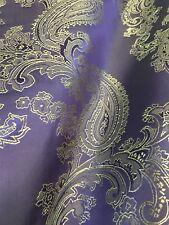 "Purple Gold Paisley Faux Silk Viscose 60""W FABRIC SUIT DRESS Wild Rags Scarf"
