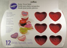 12 Cavity Conversation Hearts Mini Cake Silicone Mold from Wilton #5491 - NEW