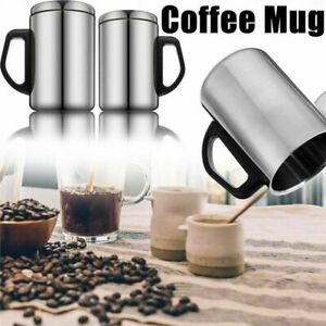 Stainless Steel Travel Mug Thermal Insulated Water Cup Bottle Tea Coffee Cup B