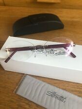Silhouette Optical Eyeglasses Frames 5506/DK 7530 52/17 Inspire Gold Scarlet
