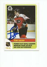 TIM KERR Autographed Signed 1986-87 OPC Leaders card Philadelphia Flyers COA