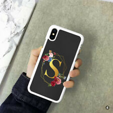 Personalised Initial Phone Case Cover For Apple Samsung Huawei 123-4