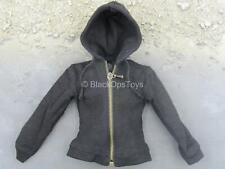 1/6 Scale Toy Casual Denim Wear - Black Jacket w/Posable Wire Hood