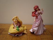 Bullyland lot figurine disney Raiponce & Pascal / Princesse Ariel