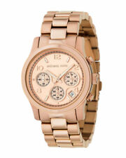 Michael Kors MK5128 Rose Gold Runway Wrist Watch for Women New Store Return