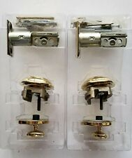 Lot of 2 Baldwin Estate Low Profile Single Cylinder Deadbolt Lock Polished Brass