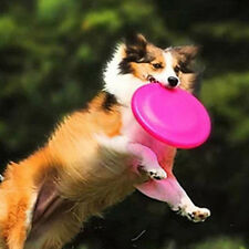 New Dog Puppy Training Leads Flying Saucer Frisbee Dish Silica Soft Fold Plate