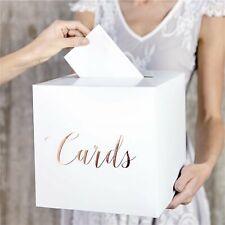 Rose Gold Wedding Card Box